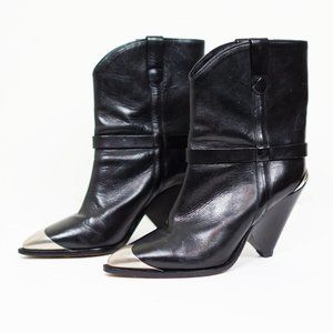 ISABEL MARANT Lamsy Ankle Western Boots 9, 39